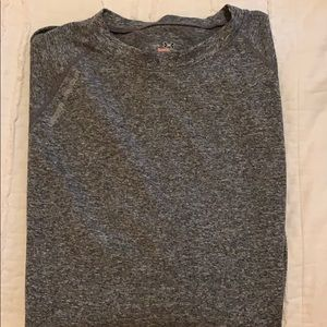 Men's gray, long sleeved under armour